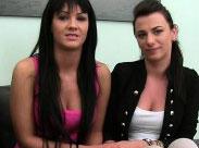 Lesbensex beim Pornocasting