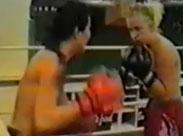 Boxende Lesben im Ring