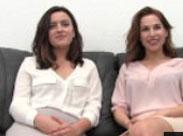 Zwei brave Mädels möchten Pornostars werden